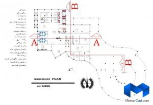 پلان مهدکودک به همراه تصاویر سه بعدی - (www.memarcad.com) (1)