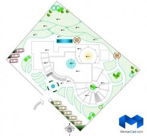 پلان مهدکودک به همراه تصاویر سه بعدی - (www.memarcad.com) (2)