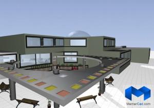 پلان مهدکودک به همراه تصاویر سه بعدی - (www.memarcad.com) (3)