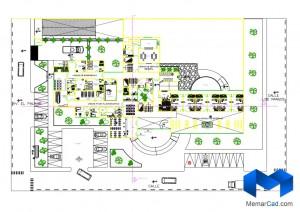 دانلود پلان بیمارستان قلب به همراه تصاویر سه بعدی - (www.memarcad.com) (1)