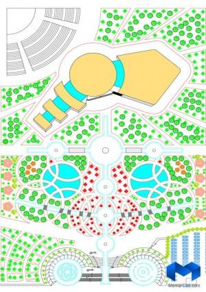 دانلود پلان مرکزهنرهای نمایشی با تصاویر سه بعدی - (www.memarcad.com) (3)