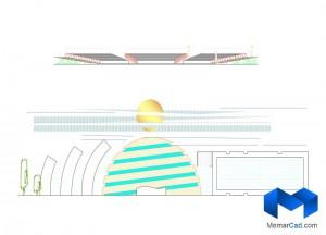 دانلود پلان مرکزهنرهای نمایشی با تصاویر سه بعدی - (www.memarcad.com) (4)