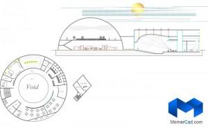 دانلود پلان مرکزهنرهای نمایشی با تصاویر سه بعدی - (www.memarcad.com) (5)
