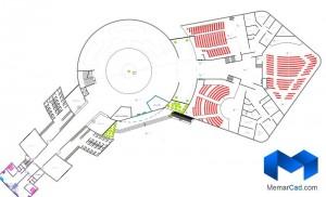 دانلود پلان مرکزهنرهای نمایشی با تصاویر سه بعدی - (www.memarcad.com) (6)